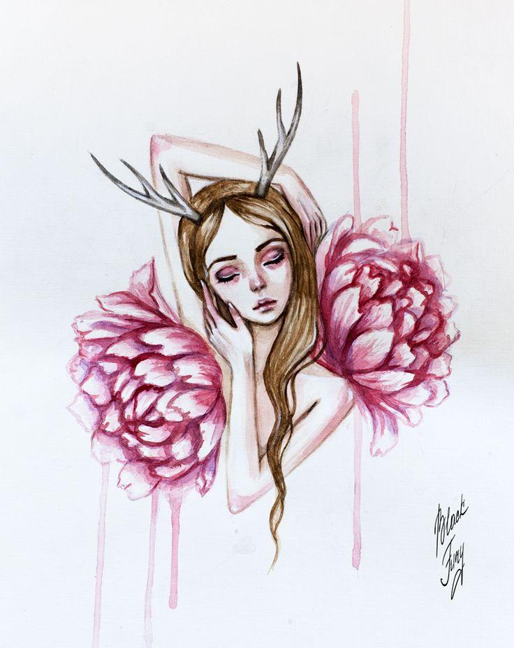 watercolor dreams by BlackFurya
