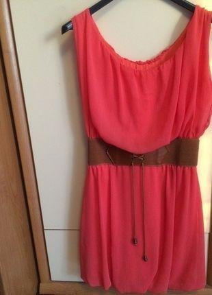 Kup mój przedmiot na #vintedpl http://www.vinted.pl/damska-odziez/krotkie-sukienki/14424521-malinowa-sukienka-z-paskiem