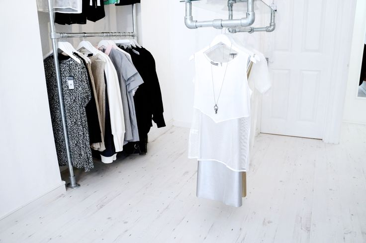 A slightly messy rail but we love this styling by Loïs, mixing together Little Black Wardrobe and Gemma Goldstone - summer chic vibes!  www.whitedirt.co.uk