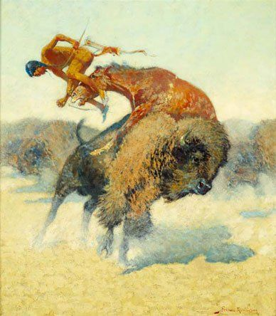 Frederic Remington An Episode of the Buffalo Hunt oil/canvas