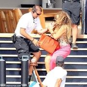 cool Mariah Carey nearly falls whilst stepping off yacht: No Longer a stunning sight