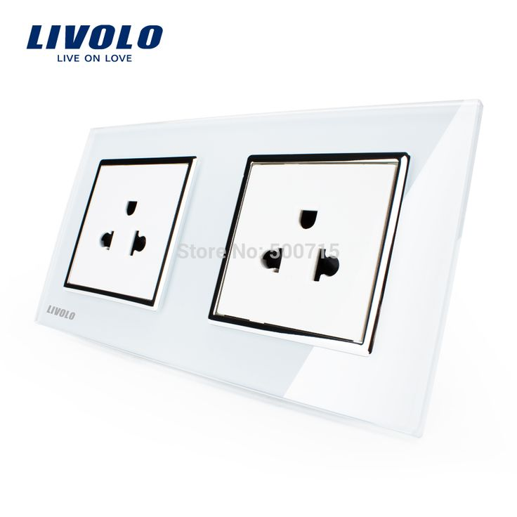 LIVOLO, производитель, 16A Стандарт США, настенный Электрический/Мощность Двойной Разъем/Разъем хрусталь Стеклянные Панели, ВЛ-C7C2US-11