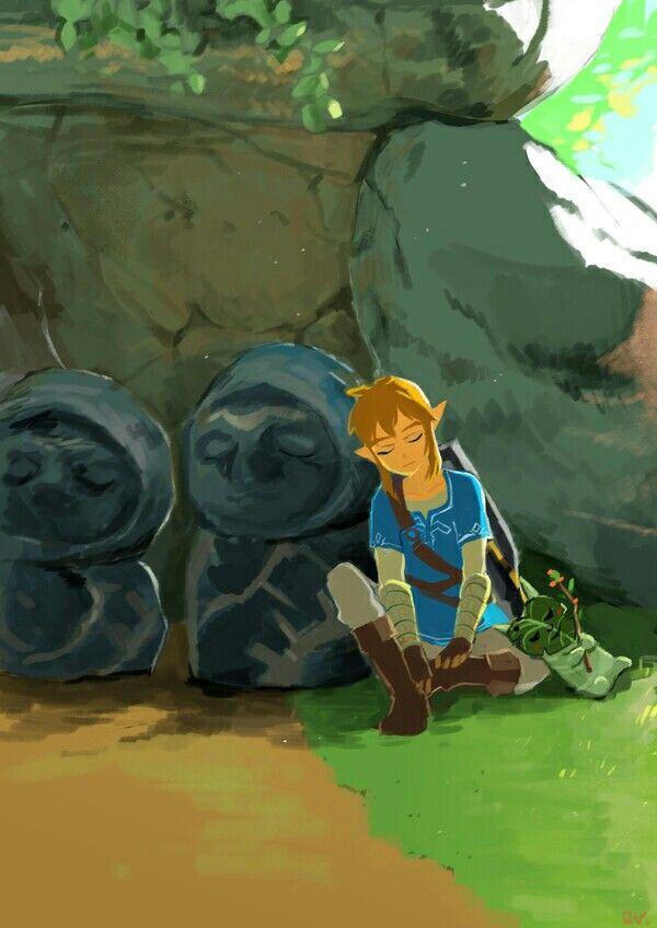 Zelda Breath le the Wild-Link rochers découragement