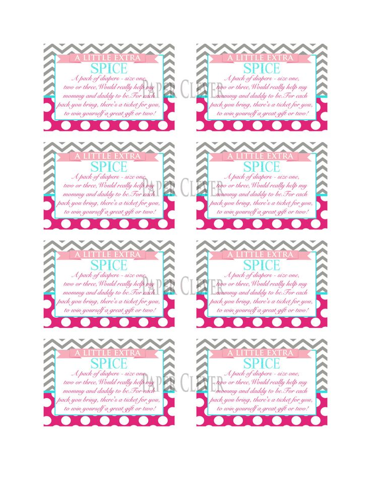 Twins Baby shower invitation family of four chevron stripe, hot pink,…