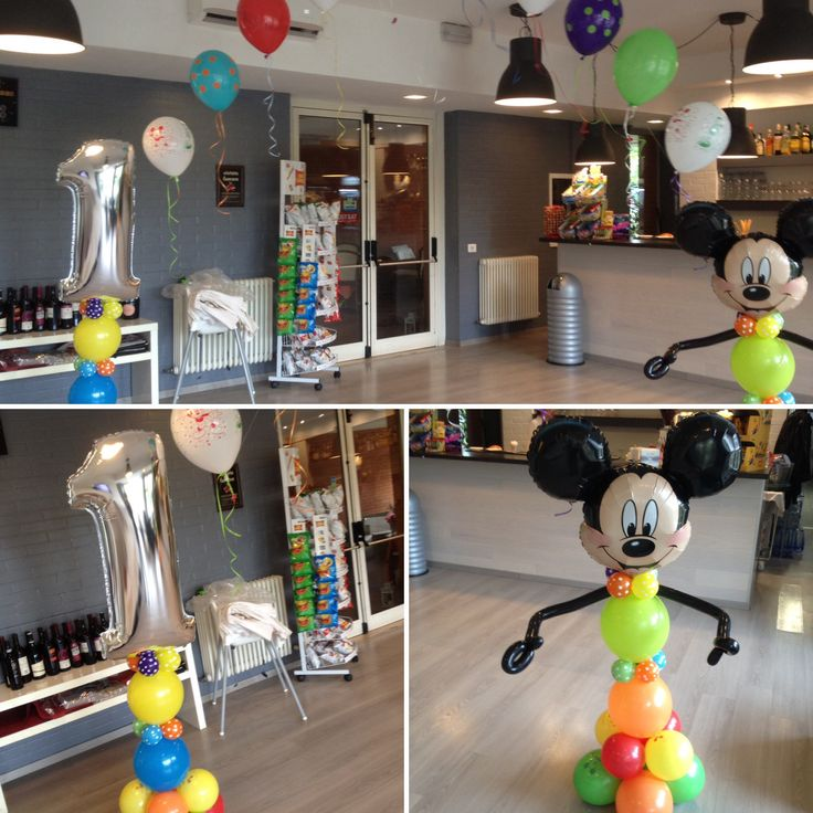 Arco di palloncini e colonna a tema Mickey Mouse. Festa a tema topolino per festeggiare il primo compleanno. By C&C CREATIONS Eventi