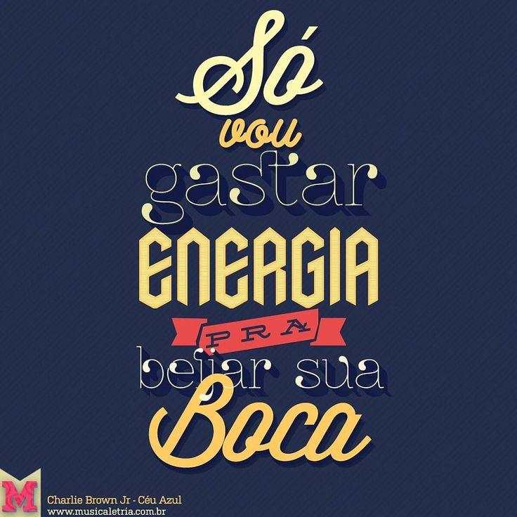 "Músicaletria on Instagram: ""Céu Azul - Charlie Brown Jr  #musicaletria #charliebrownjr #ceuazul #rock #tipografia #typography #typographyinspired"""