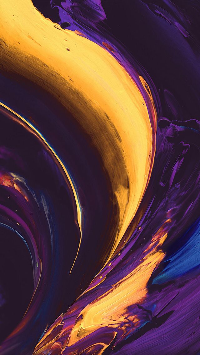 Vs33 Htc Abstract Art Paint Pattern Purple Yellow Color In 2019