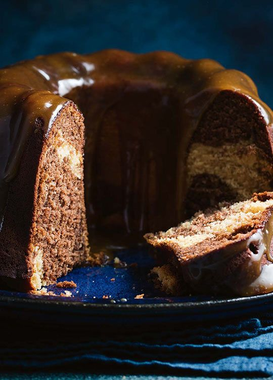 How to make Marbled Butterscotch Cake