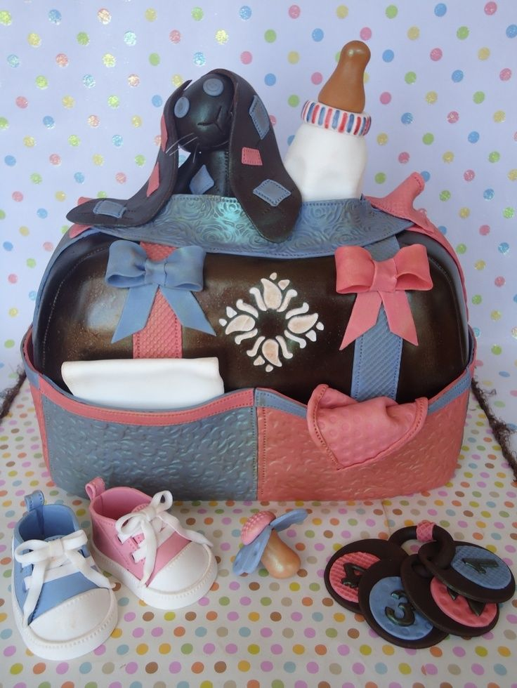 23 Scrumptious Diaper Bag Cakes for Baby Showers