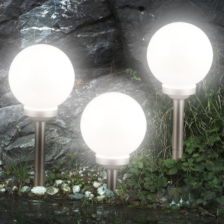 3er-Set LED Solarleuchte Kugel Garten Beleuchtung Außen Leucht Lampe Nacht Lichtsparen25.com , sparen25.de , sparen25.info