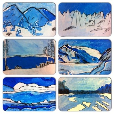 452 best images about middle school painting on pinterest for Landscape art projects