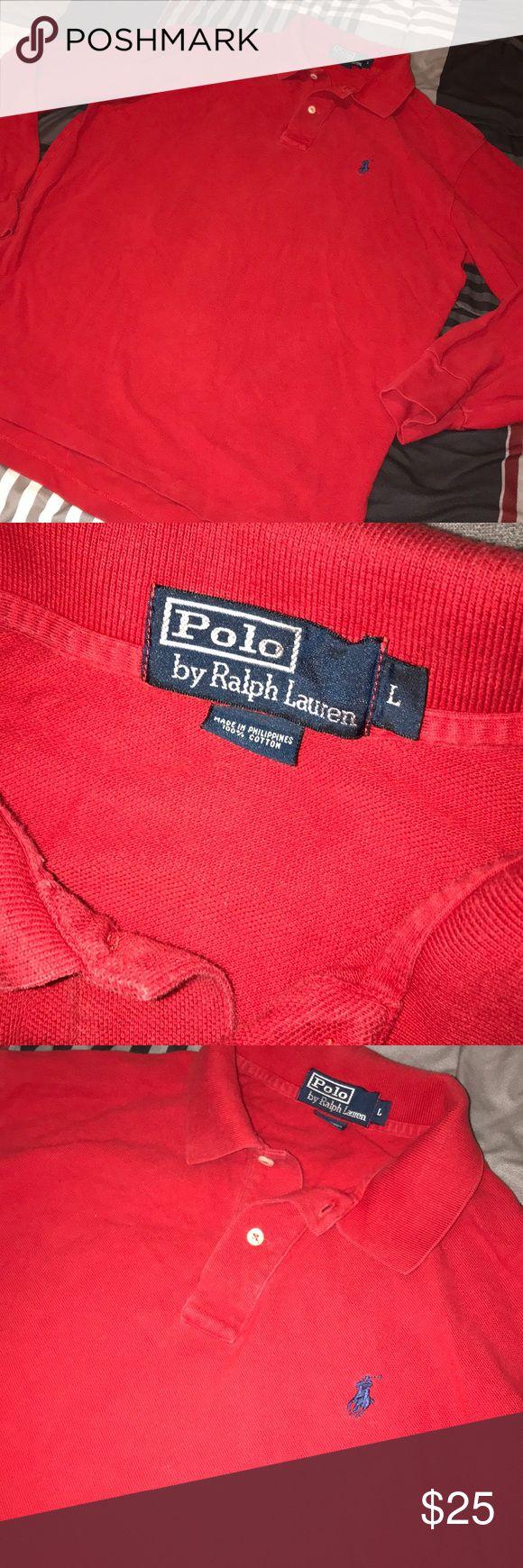 Men's Long Sleeve Polo Shirt - Blue Horse size Large. Men's Long Sleeve Polo Shirt - Blue Horse Polo by Ralph Lauren Shirts Polos