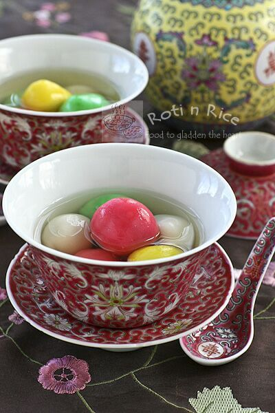 This dessert of glutinous rice balls in a sweet clear soup is a must-have for the Winter Solstice Festival to mark the arrival of winter. Fun and easy to make. #chinesedessert #winterfestival #tangyuan