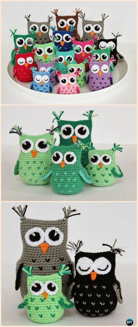 Crochet Hearty Owl Amigurumi Free Pattern - Amigurumi Crochet Owl Free Patterns #CrochetGifts