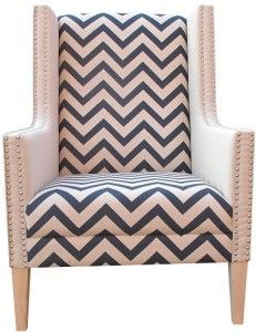 Bella Trevor Zig Zag club chair | Living Edge