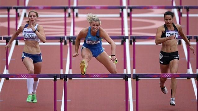 Women's Heptathlon 100m Hurdles Heats, London 2012