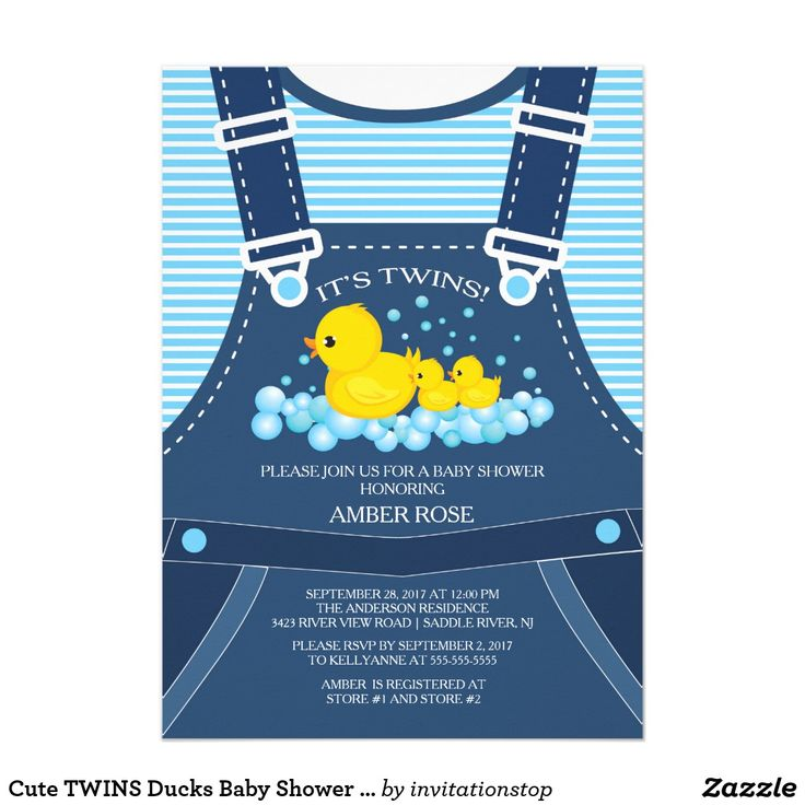 647 best twin babies invitations and gifts for everyone images on shop cute twins ducks baby shower invitation created by invitationstop personalize it with photos text or purchase as is negle Images