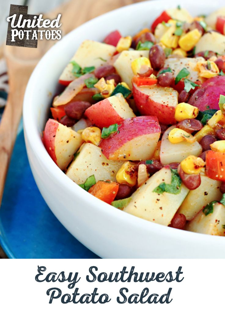 Utah is about big views and big flavor. Just take in the sight of this Easy Southwest Potato Salad. Large dice those taters and create a few tasty monuments of your own. And this delicious destination is only thirty minutes away. Perfect for that packed lunch, as an exciting vegetarian taco filliing, or as a flavorful topping to any salad.