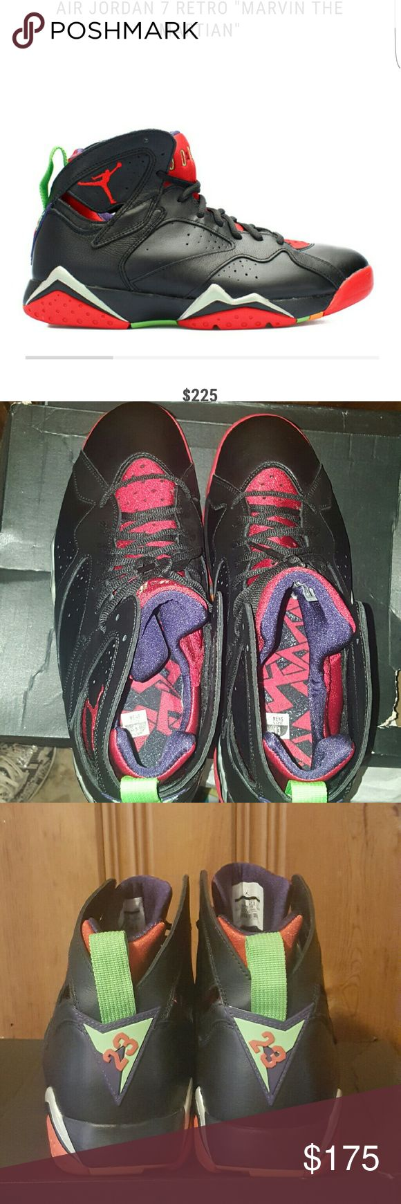 "Air Jordan 7 Retro ""Marvin The Martian"" Great condition! Only tried on once. Size 13 is SOLD OUT EVERYWHERE! Purchased through Flight Club. Box is damaged unfortunately. More pics availabke upon request. Jordan Shoes Sneakers"