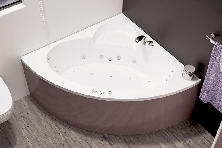 Небольшая угловая #ванна Лона прекрасно подойдет для малогабаритной ванной