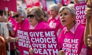 Protest in support of assisted dying in London, September 2015