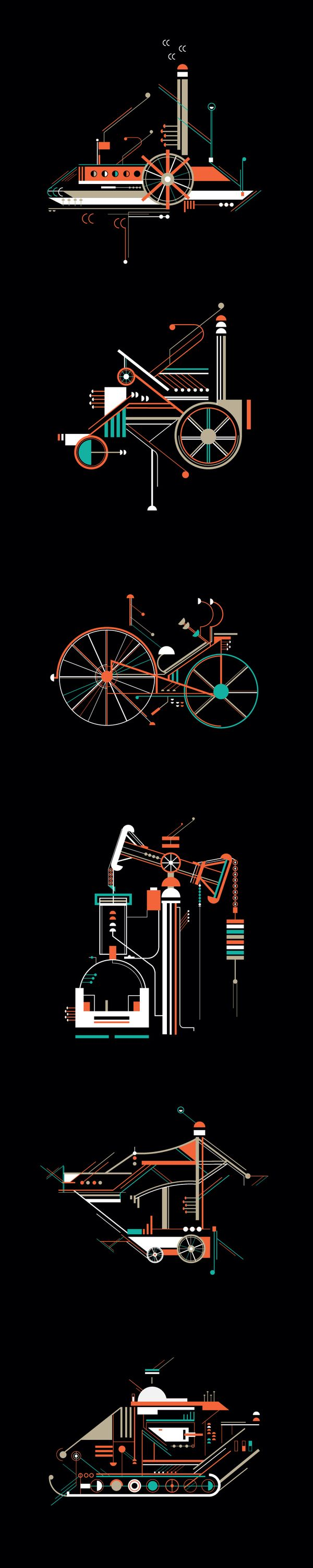 The stamps graphics Petros Afshar