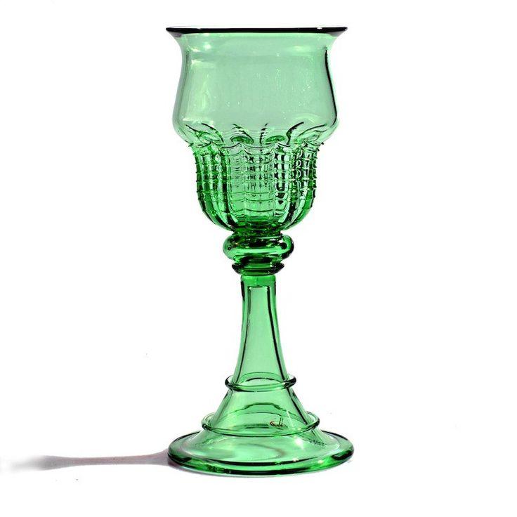 GAHERIS green medieval goblet -Original Murano Glass GAME OF THRONES goblet