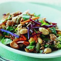 Beetroot, Chickpea and Nut Salad