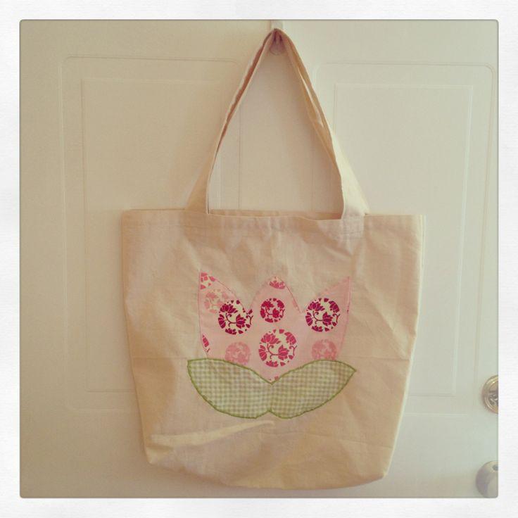 Tote bag diseño flor