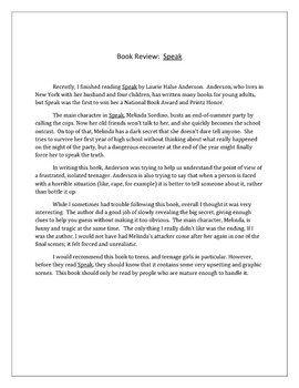 book review sample essay