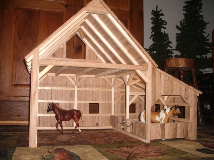 how to make a breyer barn out of wood