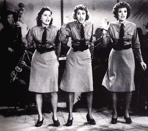 Image result for the andrews sisters buck privates