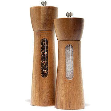 Very pretty salt & pepper grinders.