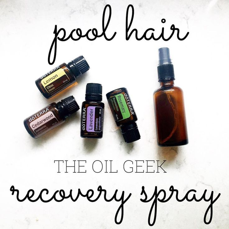 Natural hair repair with essential oils. Chlorine, swimmers hair. Essential oils for hair.
