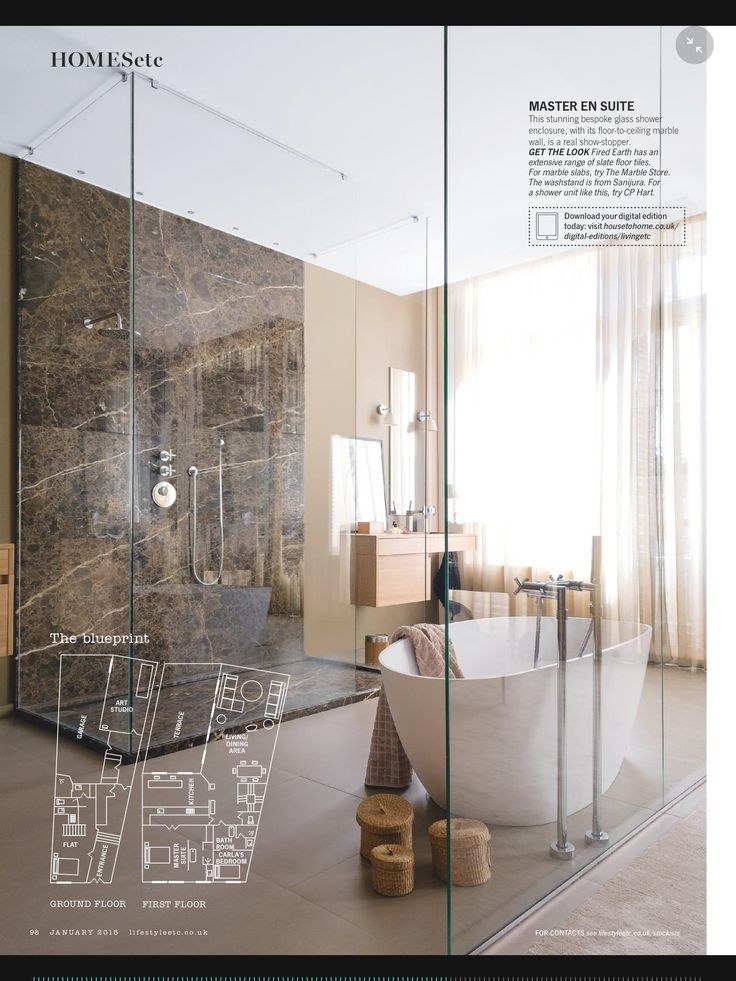 Another view of the glass wall in the bathroom idea.
