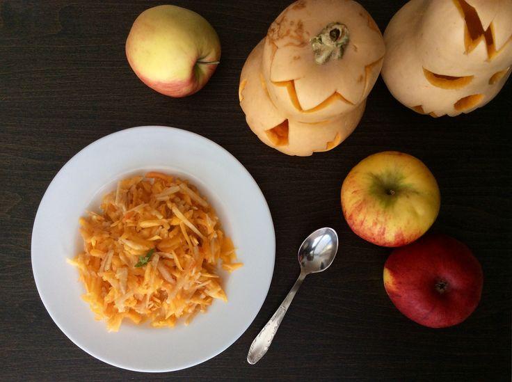 Salát ze syrové máslové dýně a jablek
