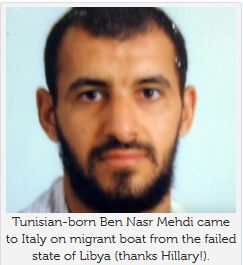 Note to Antonio Guterres! Terrorists do use refugees as cover to get into Europe « Tunisian-born Ben Nasr Mehdi was discovered among 200 refugees in a migrant boat off the coast of Sicily on Oct. 4. He was first arrested in Italy in 2007 and sentenced to seven years imprisonment for plotting terror attacks with a group that has since been linked to ISIS. He tried to return to Italy last month in a boat that was attempting to cross the Mediterranean from Libya.