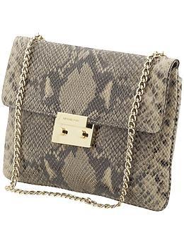 Michael KorsKors Clutches, Embossing Clutches, Kors Python, Beautiful Bags, Michael Kors Snakeskin Bag, Python Embossing, Python Clutches, Definition Ditch, Python Purses