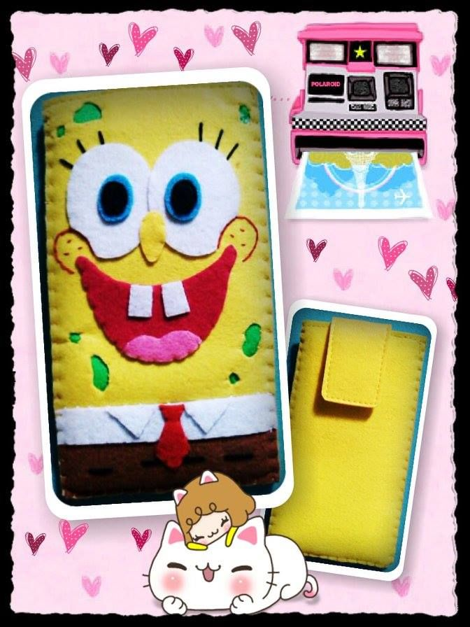 Spongebob, HANDMADE  felt pouch and case for ipad, ipad mini and any other gadgets We also accept customize and personalize order :)