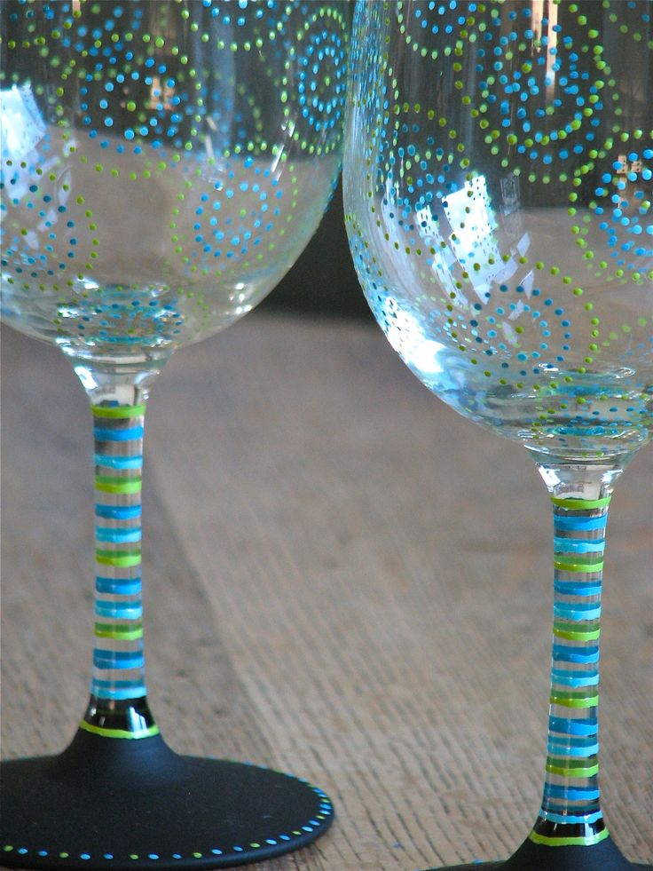 Best 25 painted wine glasses ideas on pinterest hand for Can i paint glass with acrylic paint