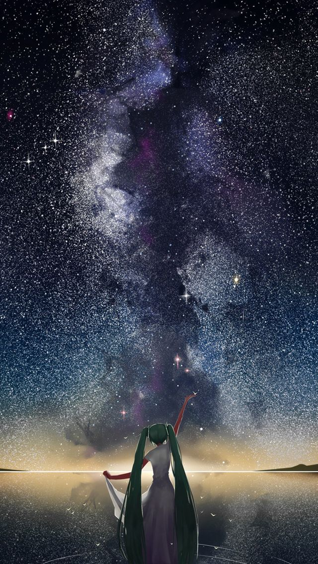 Starry sky vocaloid - Anime iPhone wallpapers @mobile9 iPhone 7 & iPhone 7 Plus Wallpapers ...