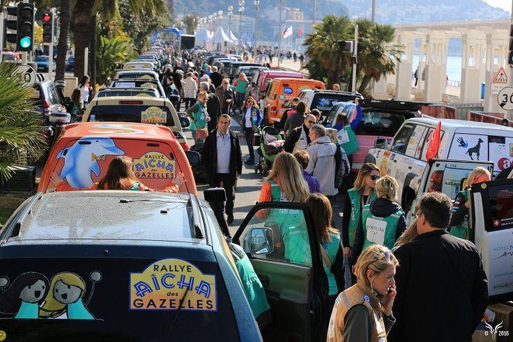 Le Rallye Aïcha des Gazelles sur la Promenade des Anglais