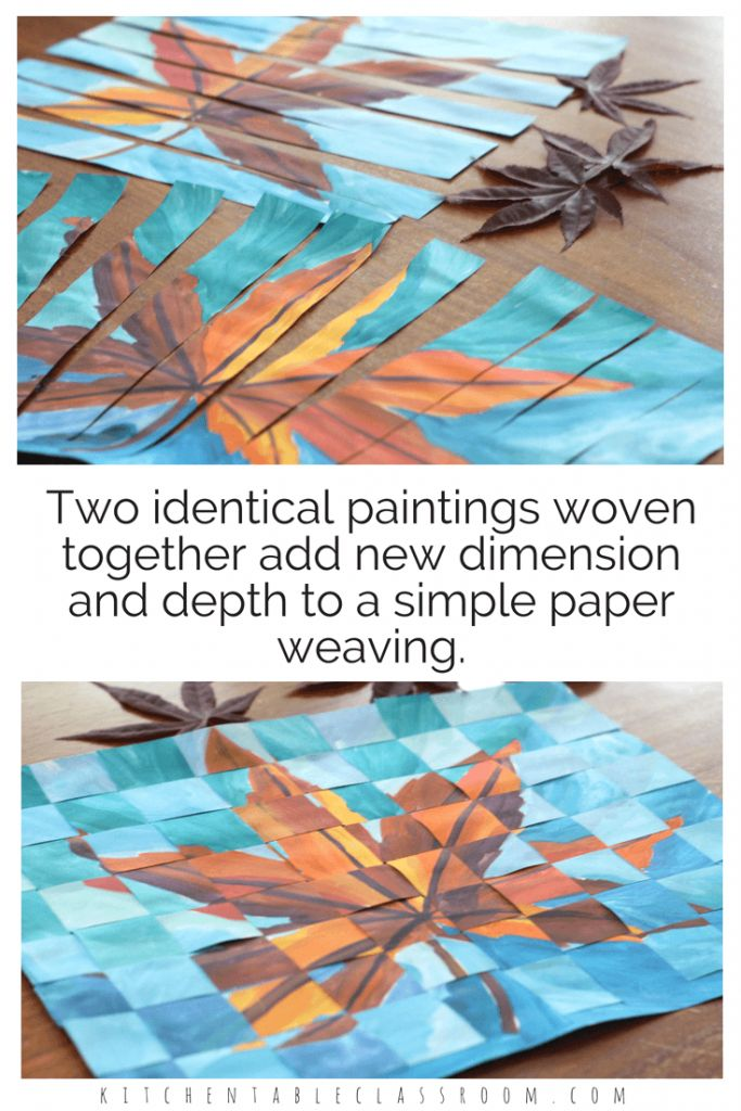 Weaving Paper – Joining Two Paintings