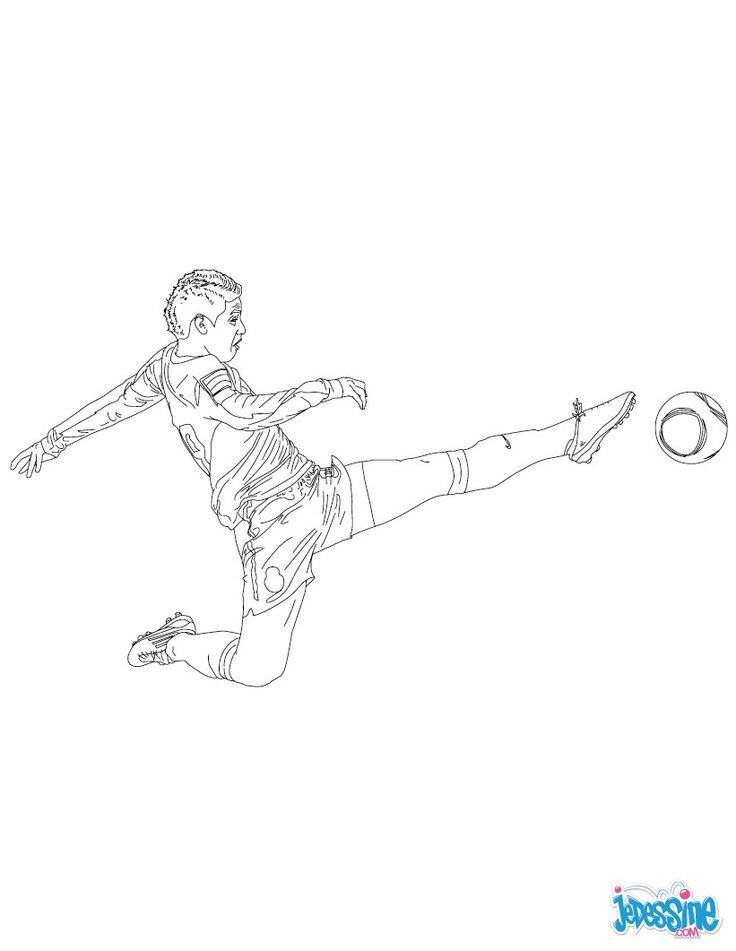 69 best coloriages football images by hellokids france on - Joueur de foot a colorier ...