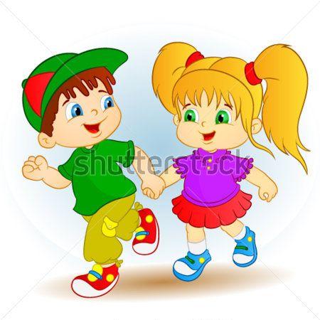 Lindo Chico Y Girl| Niños Felices | imágenes prediseñadas (clip ...