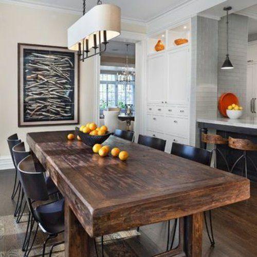 rustikale esstische hell holz obst exotisch massiv abgenutzt deko pinterest. Black Bedroom Furniture Sets. Home Design Ideas