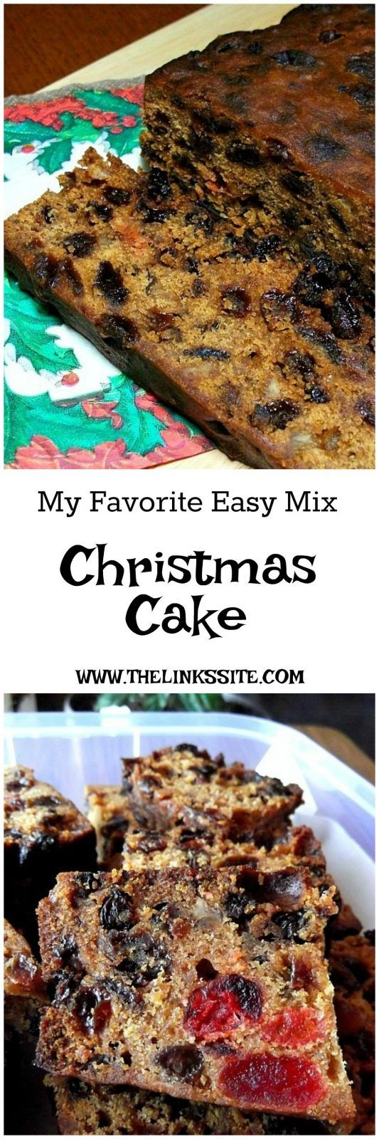 If you love having a traditional fruit cake for Christmas you are going to love this easy Christmas Cake recipe! thelinkssite.com