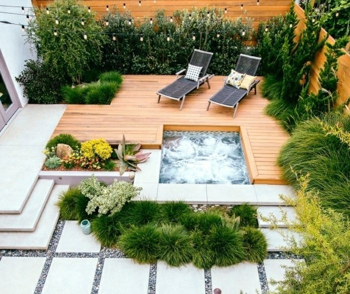 341 best terrasse images on pinterest - Jacuzzi sur terrasse ...
