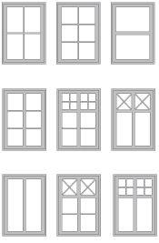Förslag på spröjsade fönster
