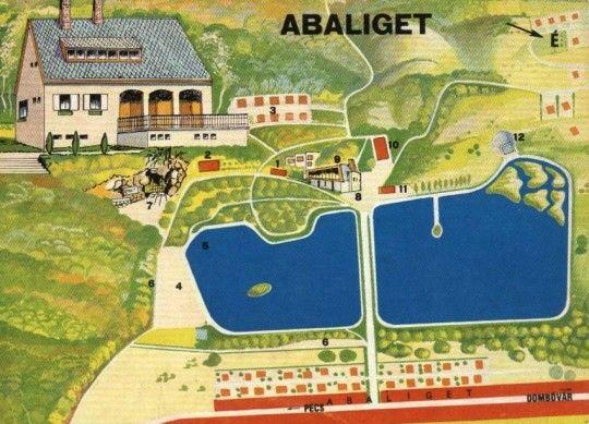 Abaligeti tó és környéke | Anno Abaliget térkép látnivalók egykor.hu | régi Magyarország akkor és most